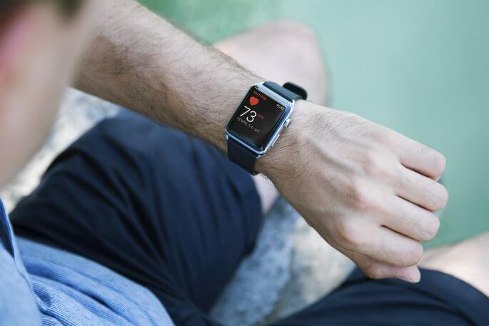hartslag meten op een Apple Watch