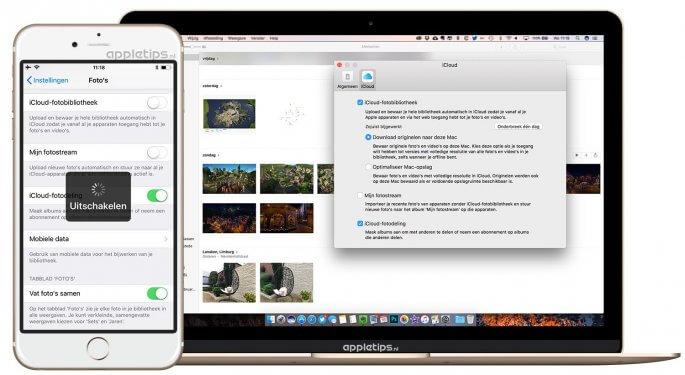 iCloud-fotobibliotheek synchroniseert niet