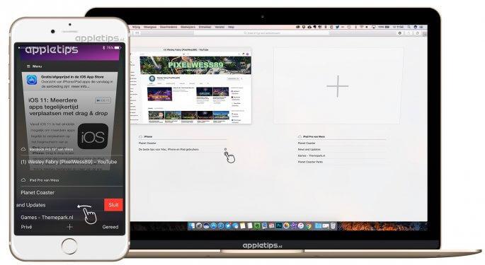 iCloud tabbladen en Safari tabbladen via andere apparaten afsluiten