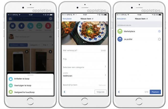 Facebook Marketplace spullen verkopen
