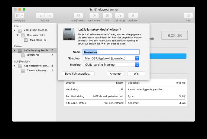 Een externe harde schijf usb stick formatteren met apfs appletips - Externe verwijderbare partitie ...