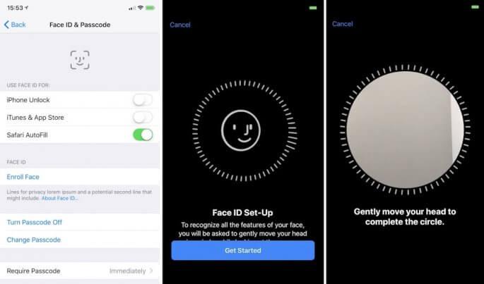 Face ID activeren op iPhone x iOS 11
