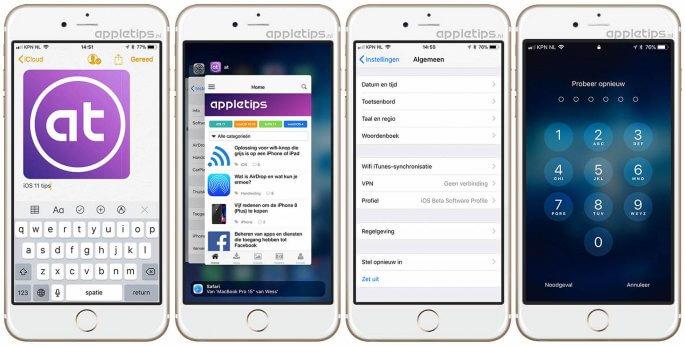 kleine wijzigingen in iOS 11 deel 1