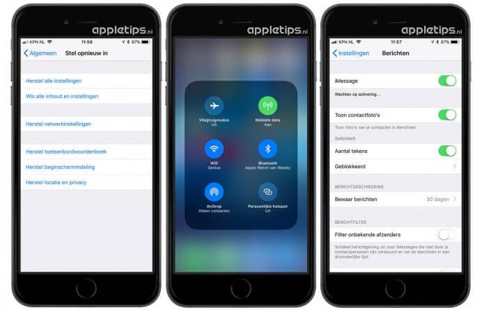 iOS 11 problemen op iPhone