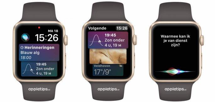 Apple Watch Siri wijzerplaat in watchOS 4