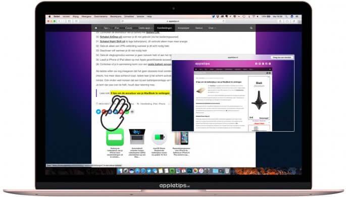 voorvertoning van een link op een Mac