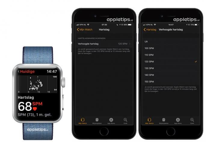 Apple Watch melding ontvangen bij vreemde hoge hartslag