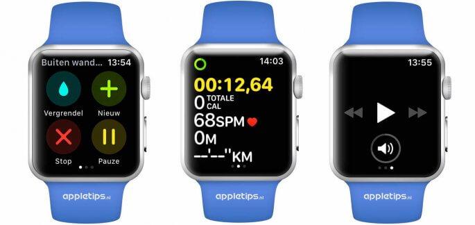 nieuwe work-out weergave in watchOS 4