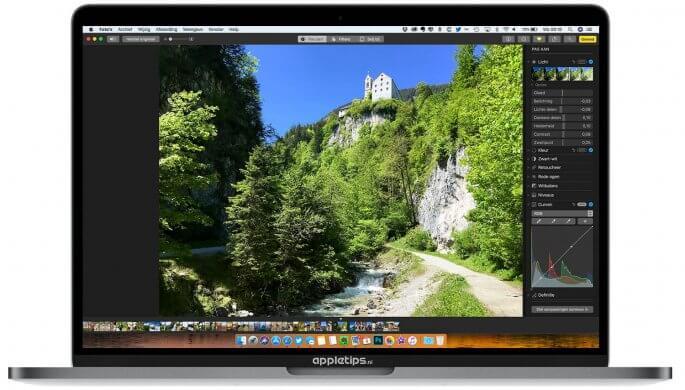 Foto's op een professionele bewerken op een Mac met macOS high Sierra