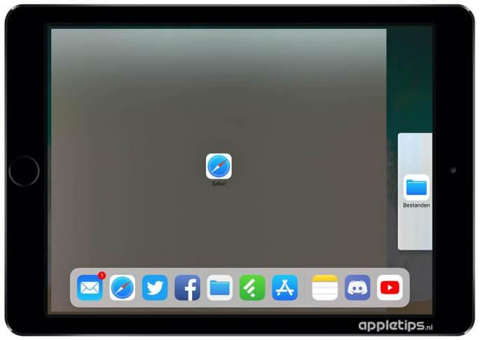 Split view activeren op een iPad en twee apps naast elkaar weergeven