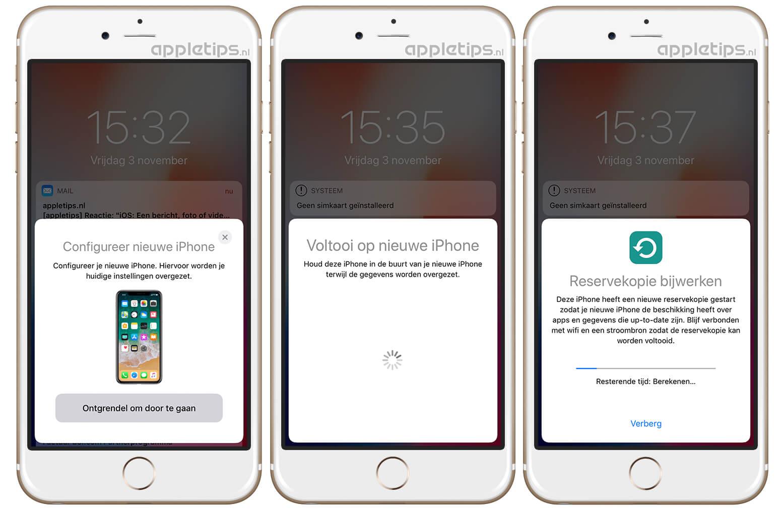 overzetten van bestanden naar nieuwe iphone