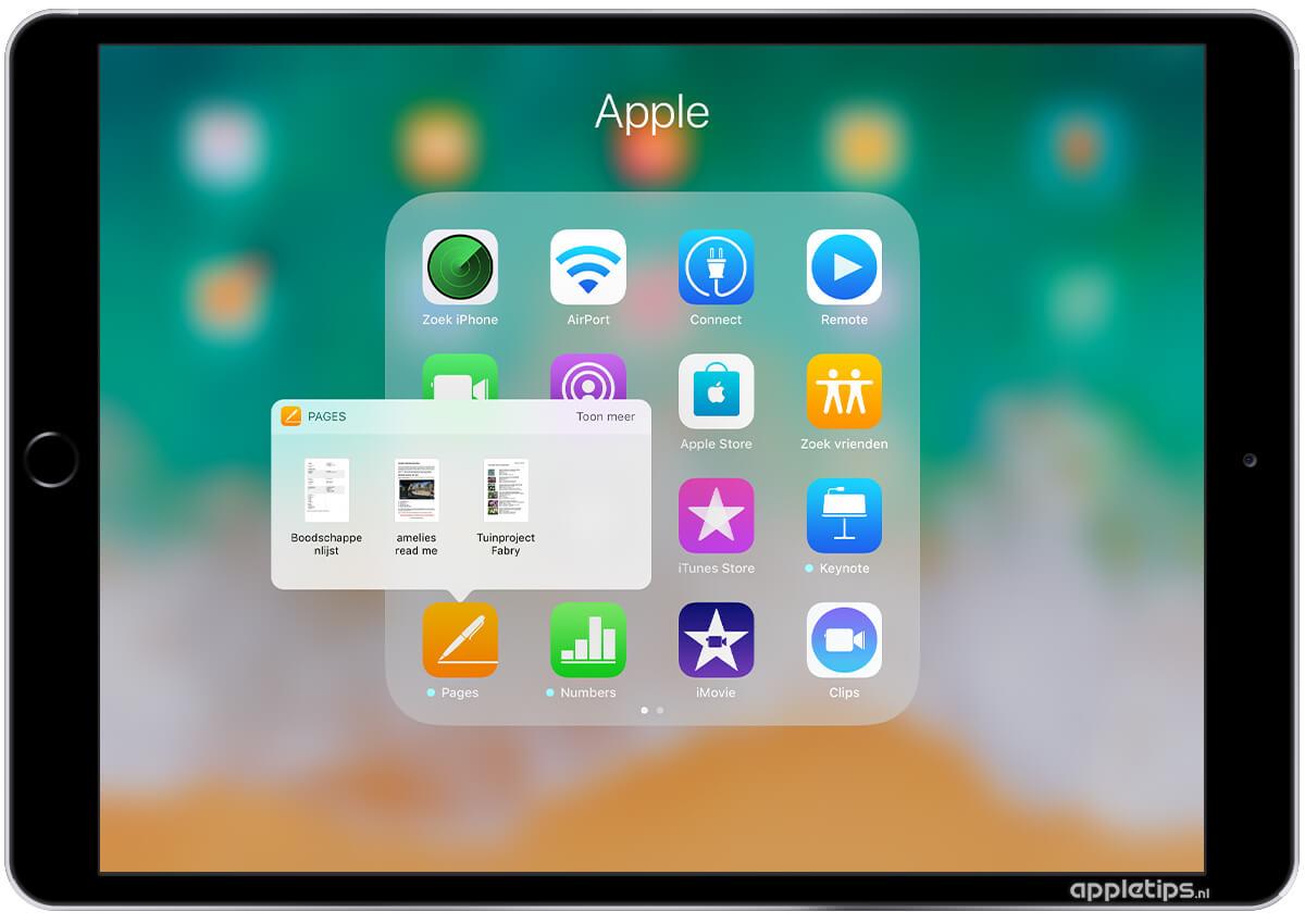 iPhone-schermafbeeldingen