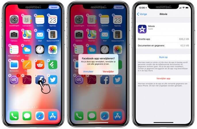 Apps verwijderen op een iPhone of iPad