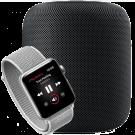 HomePod bedienen en muziek afspelen via de Apple Watch