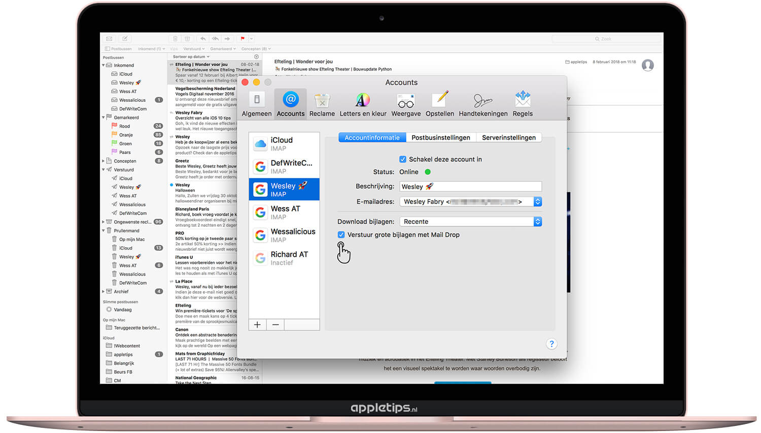 Mac: Grote bestanden versturen via Mail Drop - appletips