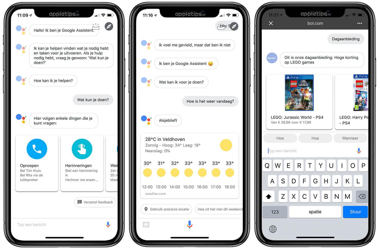 Google Assistent (Nederlands) gebruiken op een iPhone of iPad