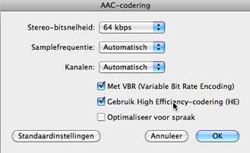 AAC-HE-codering