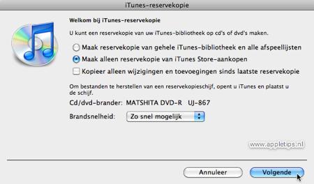 iTunes-reservekopie