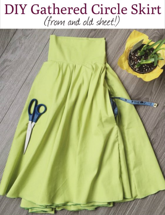Diy Gathered Circle Skirt Sewing Tutorial With Pockets Apple