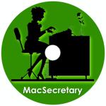 MacSecretary Disc Label