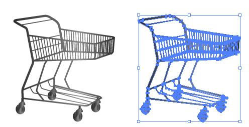 買い物かごのイラストレーターデータ