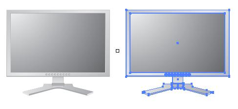 パソコンのモニター ベクターデータ