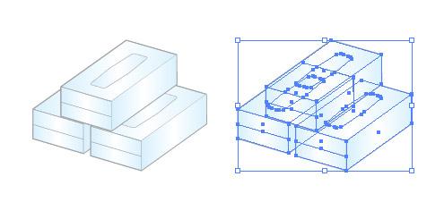 ティッシュの箱 BOX イラレ/ベクトルデータ