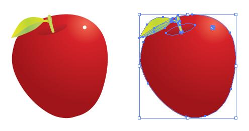 りんご イラレ・ベクトルデータ