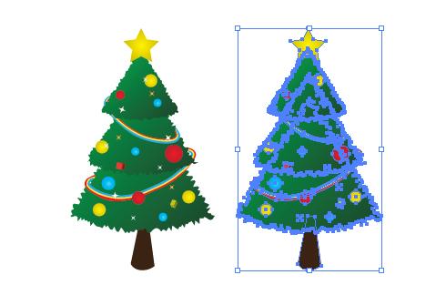 クリスマスツリー イラレ・ベクトルデータ