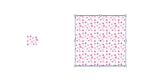 ピンク色のキラキラした イラレのパターン