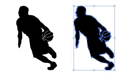 バスケットボール 影絵