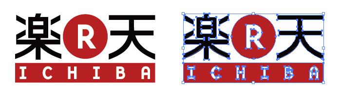 楽天市場 rakuten ichiba ロゴ イラレ・ベクトルデータ