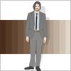 スーツを着た男性サラリーマン ビジネスマン