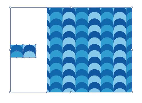 ポップな波をイメージしたパターン