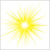 ピカーーンと光る放射光線