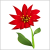 特にこれといって名もない赤い花のイラスト