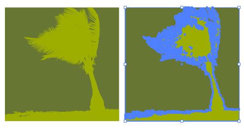 ヤシの木の影絵