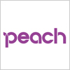 LCC ピーチ(peach)のロゴ
