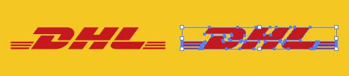 DHL(ディーエイチエル)のepsロゴ