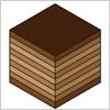 チョコがかかったバームクーヘンのお菓子のイラスト