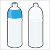 1.5リットルタイプのペットボトルのイラスト