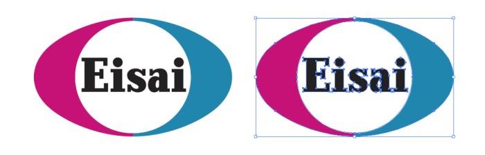 忙しいwebデザイナーさんのためのWeb用素材データ保管・無料ダウンロードサイト【無料配布】イラレ/イラストレーター/ベクトル パスデータ保管庫【ai・eps ベクター素材】デザイナーさんの時間短縮のためのイラレweb素材エーザイ(Eisai)のロゴマーク