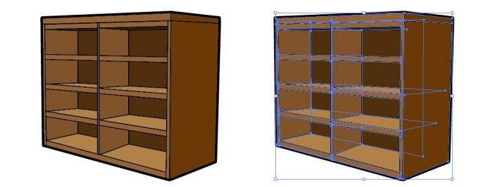 木の棚のイラスト