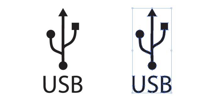 忙しいwebデザイナーさんのためのWeb用素材データ保管・無料ダウンロードサイト【無料配布】イラレ/イラストレーター/ベクトル パスデータ保管庫【ai・eps ベクター素材】デザイナーさんの時間短縮のためのイラレweb素材USB(ユニバーサル・シリアル・バス)のロゴマーク