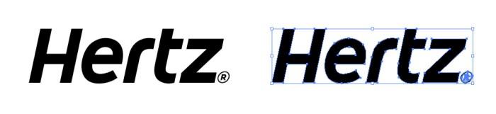 ハーツ(Hertz)のロゴマーク