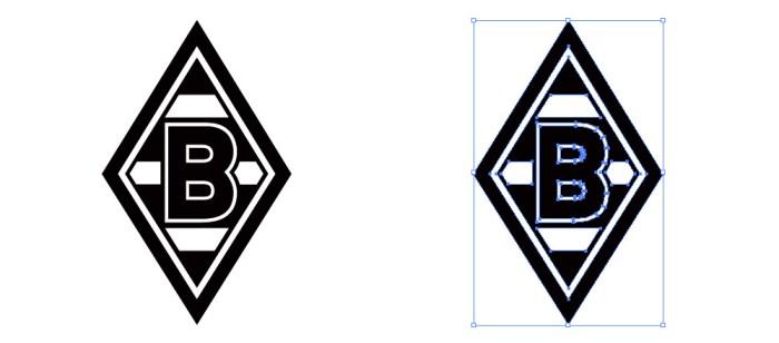 ボルシア・メンヒェングラートバッハ(Borussia VfL 1900 Mönchengladbach)のロゴマーク