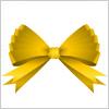 金色に輝くリボンのイラスト