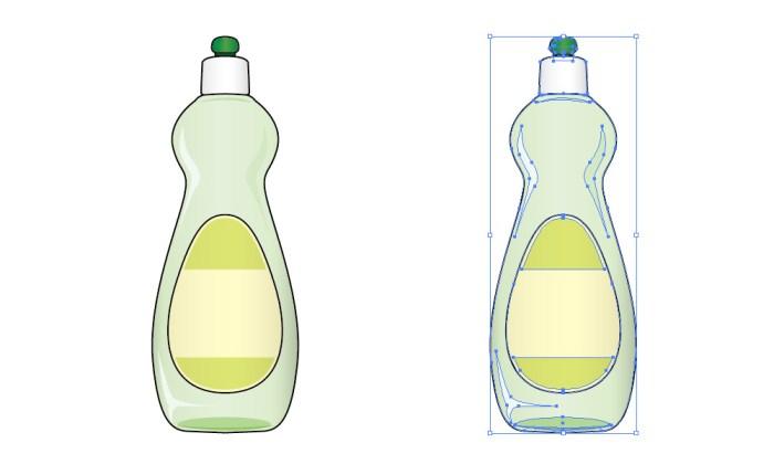台所洗剤のイラスト素材