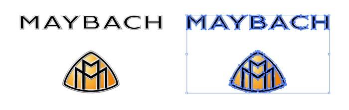 マイバッハ (Maybach) のロゴマーク