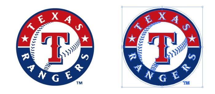 テキサス・レンジャーズ(Texas Rangers)のロゴマーク